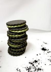 ブラックココア×抹茶クッキーサンド