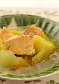 〈くらし薬膳〉鮭のサフランスープ