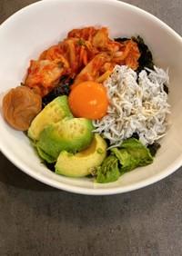 韓国風✨激うま簡単アボカドしらす丼