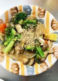 根菜シーザードレッシング炒め温野菜サラダ