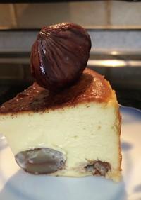 栗の渋皮煮でバスクチーズケーキ