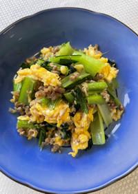 「減らソルト」小松菜と卵のふんわり炒め