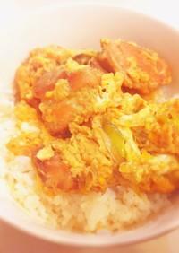 簡単麺つゆ親子丼