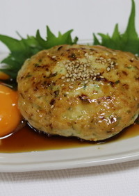 甘辛タレが美味しい♪鶏つくねハンバーグ