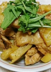 鶏もも肉とじゃがいものカレー炒め