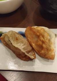 牡蠣と大葉の焼き餃子