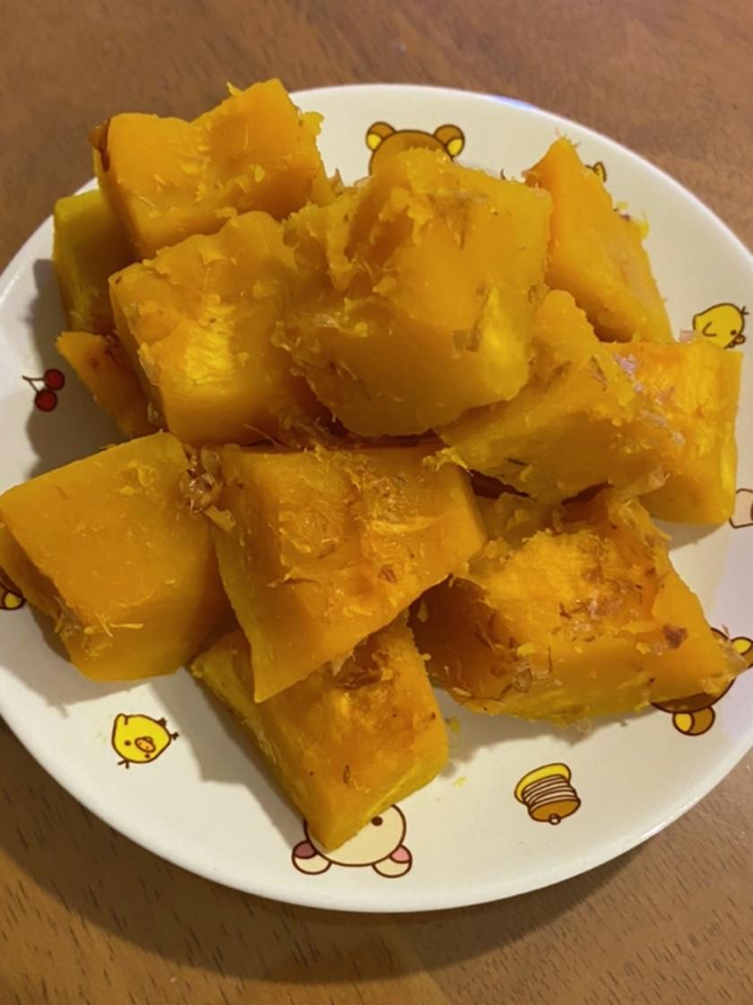 レンジで簡単!かぼちゃおかか味でほっこり