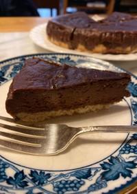 濃厚なチョコレートチーズケーキ