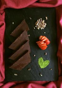 ♥生チョコテリーヌ♥焼かずに基本材料3つ