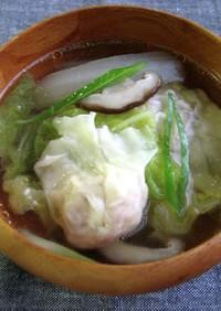 白菜のワンタンスープ