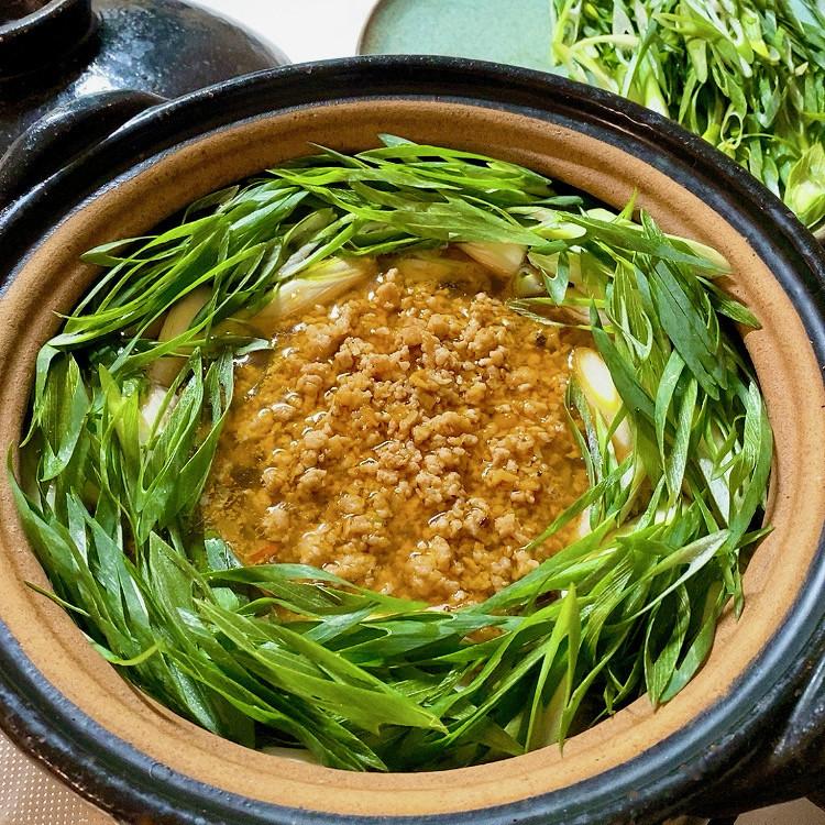 ●九条ねぎの担々鍋●