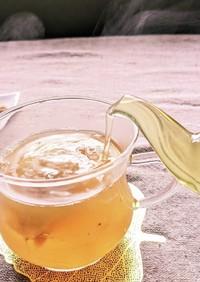 冬のHOTデザートスープ 愛玉生姜緑茶