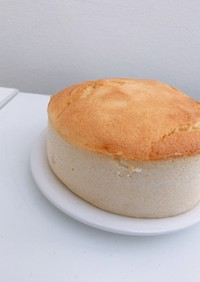 水切りヨーグルトでスフレチーズケーキ