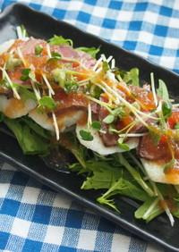 長芋とローストビーフの贅沢和サラダ