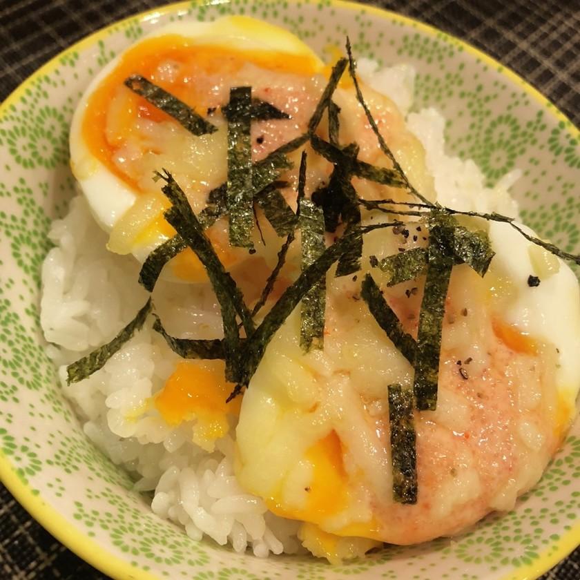 簡単!半熟卵のっけご飯