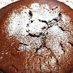 ホケミと板チョコで混ぜるだけチョコケーキ