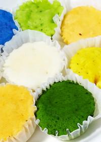 【レンジで】野菜パウダーの米粉蒸しパン