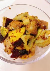 鶏モモとさつま芋と蓮根のハニーマスタード