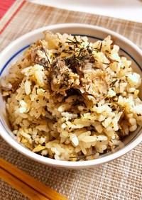 サバ缶de緑茶葉と生姜の炊き込みご飯