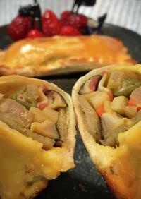 煮〆・煮物残りと食パンで簡単お惣菜パイ