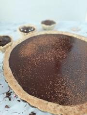 簡単生チョコレートたっぷりバナナタルトの写真