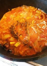 ダッチオーブン*鶏肉のトマト煮込み