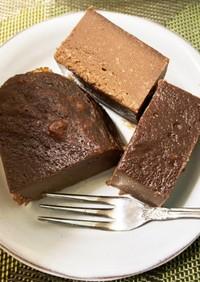 レンジでチョコチーズケーキ