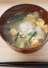 朝にもおすすめのニラと白菜の餅入りスープ