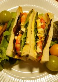 海老と玉子のサンドイッチ