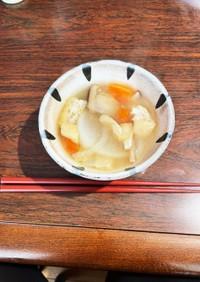 椎茸と根菜味噌汁