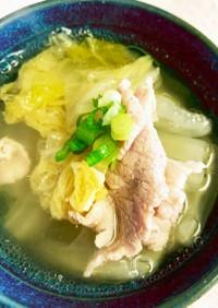 白菜と豚肉のさっぱり塩スープ