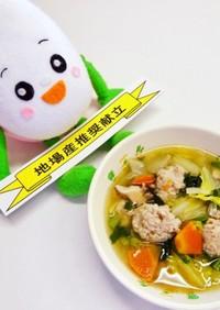 手作り肉団子と白菜のスープ