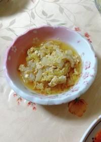 牛丼の残り汁で♪白菜の卵とじ