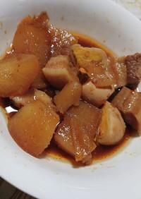 無水鍋で豚の角煮