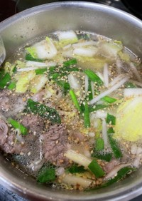 超簡単 牛肉と白菜のスープ 韓国風