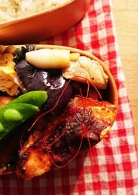 お弁当★常備菜レンジで茄子とキノコマリネ
