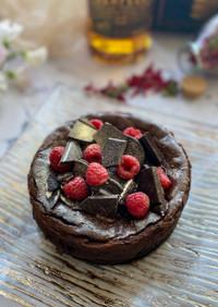 混ぜるだけな濃厚チョコレートチーズケーキ