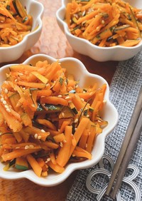 簡単10分で作れる常備菜かぼちゃきんぴら