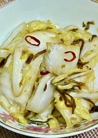 白菜のピリ辛塩昆布和え