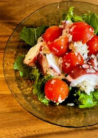 タコとトマトの塩糀マリネ