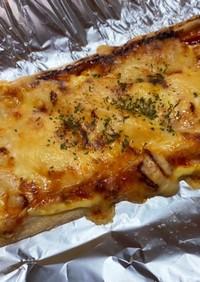 簡単!低糖質満足油揚げチーズ♪ピザ風