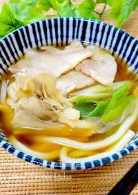 【めんつゆで】❀舞茸と豚バラ肉うどん❀