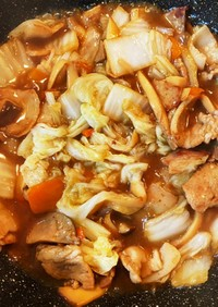 白ご飯に合う豚バラ肉と白菜炒めトロトロ餡