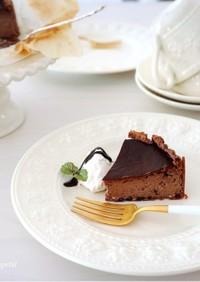 アイスde簡単♡チョコバスクチーズケーキ