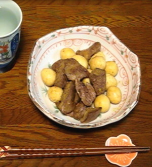 鶏のレバハツ焼き