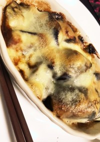 ナスと味噌のチーズ焼き