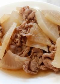 冷凍大根と豚肉の煮物