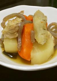 【バランス】大根と鶏肉の煮物