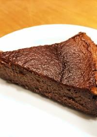 カカオ95%のチョコバスクチーズケーキ♪
