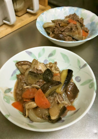 茄子と牛肉のオイスターソース炒め煮